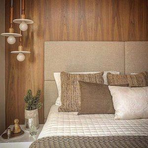 revestimento para quarto de casal em madeira