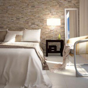 revestimento para quarto de casal em pedra