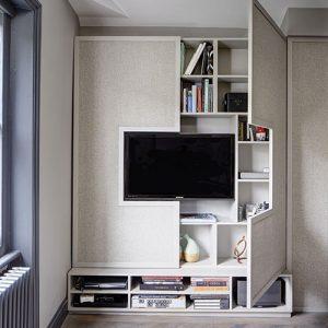 Decoração de sala de TV painel