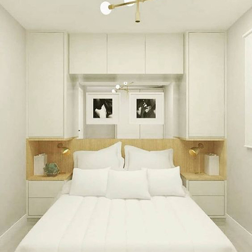 Guarda roupas com cama embutidas de casal planejados