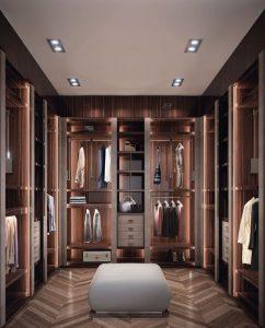 Iluminação para closet